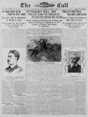 The San Francisco Call Gazetesi 3 Ocak 1900 kapağı