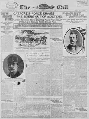 The San Francisco Call Gazetesi 5 Ocak 1900 kapağı