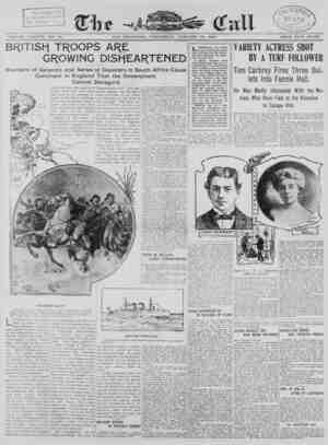 The San Francisco Call Gazetesi 10 Ocak 1900 kapağı