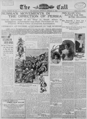 The San Francisco Call Gazetesi 11 Ocak 1900 kapağı