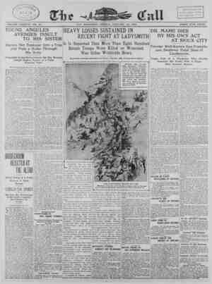 The San Francisco Call Gazetesi 12 Ocak 1900 kapağı