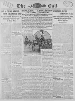 The San Francisco Call Gazetesi 13 Ocak 1900 kapağı