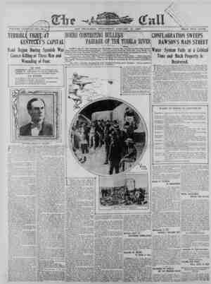 The San Francisco Call Gazetesi 17 Ocak 1900 kapağı