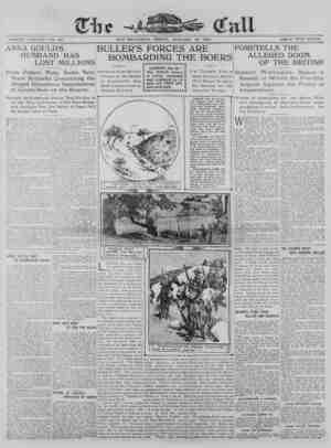 The San Francisco Call Gazetesi 19 Ocak 1900 kapağı