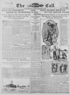 The San Francisco Call Gazetesi 20 Ocak 1900 kapağı