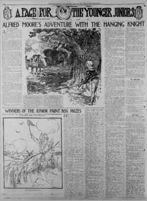 4 A PAGE FOR THE YOUNGER JUNIORS ALFRED MOORE'S ADVENTURE WITH THE HANGING KNIGHT Acton Archer RLFRED MOORE lived when he was