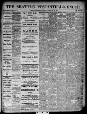 The Seattle Post-Intelligencer Gazetesi 18 Mayıs 1888 kapağı