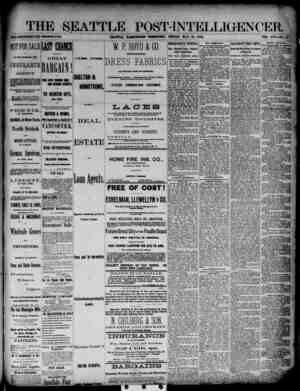 The Seattle Post-Intelligencer Gazetesi 25 Mayıs 1888 kapağı