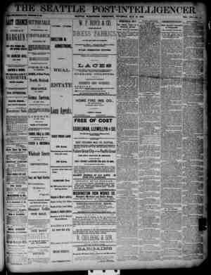 The Seattle Post-Intelligencer Gazetesi 31 Mayıs 1888 kapağı