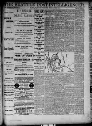 The Seattle Post-Intelligencer Gazetesi 1 Haziran 1888 kapağı