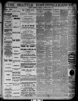 The Seattle Post-Intelligencer Gazetesi 2 Haziran 1888 kapağı