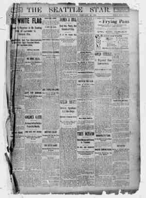 Seattle Star Gazetesi 27 Şubat 1899 kapağı