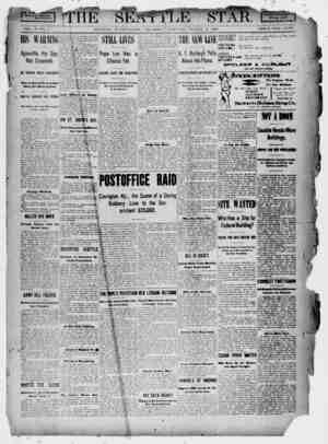 Seattle Star Gazetesi 2 Mart 1899 kapağı