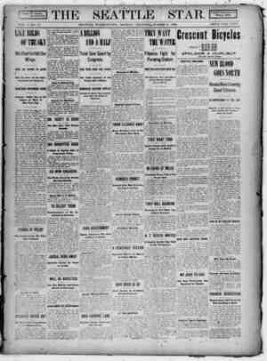 Seattle Star Gazetesi 6 Mart 1899 kapağı