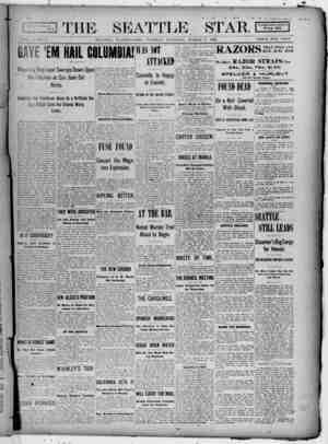 Seattle Star Gazetesi 7 Mart 1899 kapağı