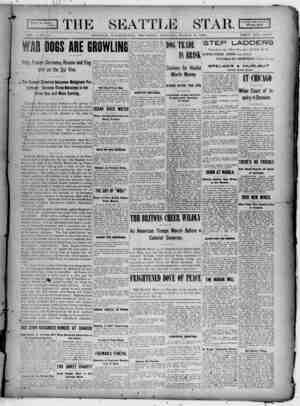 Seattle Star Gazetesi 9 Mart 1899 kapağı