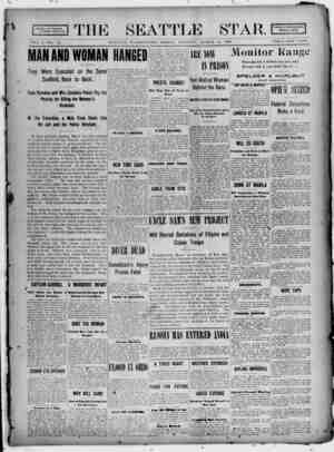 Seattle Star Gazetesi 10 Mart 1899 kapağı