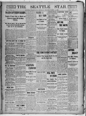 Seattle Star Gazetesi 11 Mart 1899 kapağı