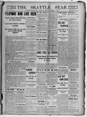 Seattle Star Gazetesi 13 Mart 1899 kapağı