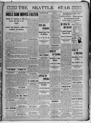 Seattle Star Gazetesi 14 Mart 1899 kapağı