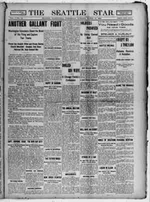 Seattle Star Gazetesi 15 Mart 1899 kapağı
