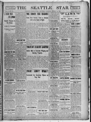 Seattle Star Gazetesi 16 Mart 1899 kapağı
