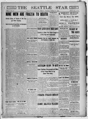 Seattle Star Gazetesi 17 Mart 1899 kapağı