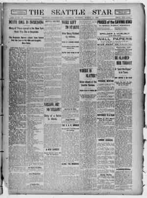 Seattle Star Gazetesi 18 Mart 1899 kapağı
