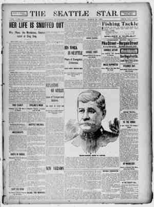 Seattle Star Gazetesi 20 Mart 1899 kapağı