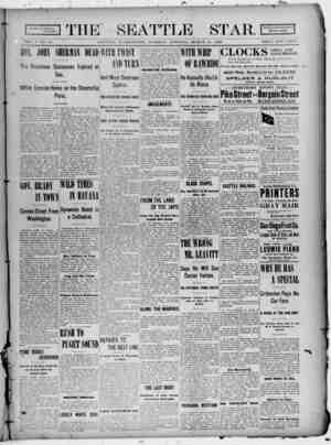 Seattle Star Gazetesi 21 Mart 1899 kapağı