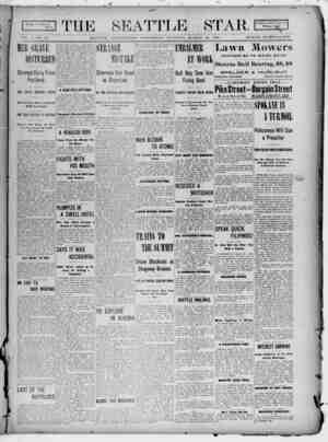 Seattle Star Gazetesi 22 Mart 1899 kapağı