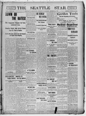 Seattle Star Gazetesi 23 Mart 1899 kapağı