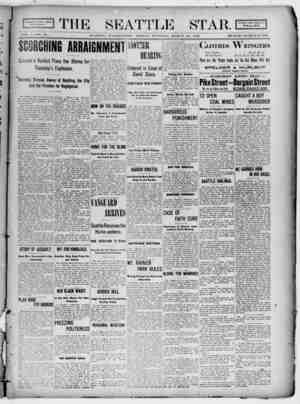 Seattle Star Gazetesi 24 Mart 1899 kapağı