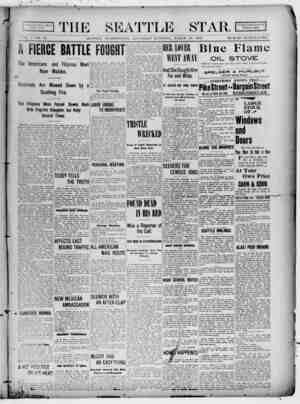 Seattle Star Gazetesi 25 Mart 1899 kapağı