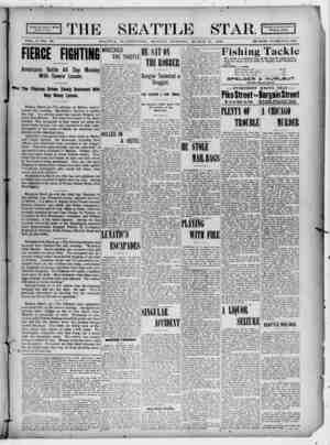 Seattle Star Gazetesi 27 Mart 1899 kapağı
