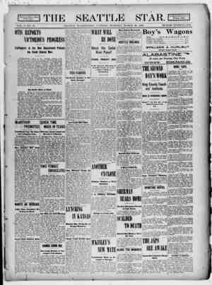 Seattle Star Gazetesi 28 Mart 1899 kapağı