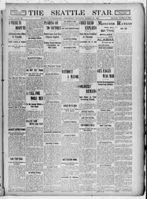 Seattle Star Gazetesi 29 Mart 1899 kapağı