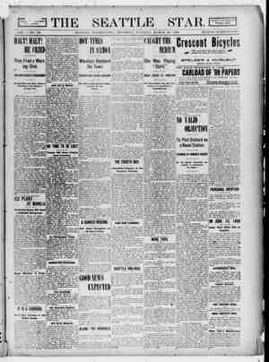 Seattle Star Gazetesi 30 Mart 1899 kapağı