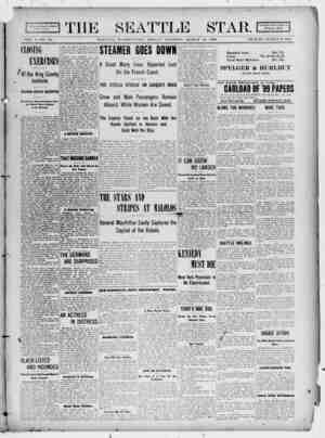 Seattle Star Gazetesi 31 Mart 1899 kapağı