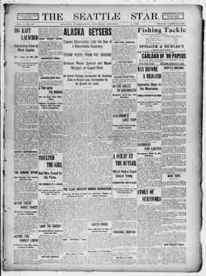 Seattle Star Gazetesi 1 Nisan 1899 kapağı