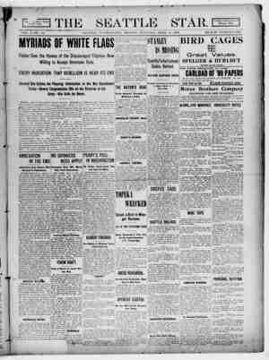 Seattle Star Gazetesi 3 Nisan 1899 kapağı