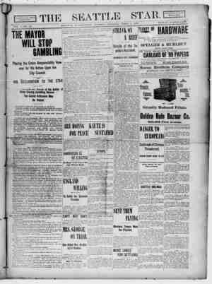 Seattle Star Gazetesi 4 Nisan 1899 kapağı