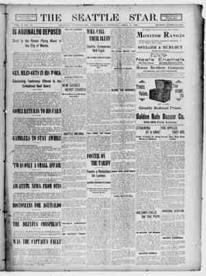 Seattle Star Gazetesi 5 Nisan 1899 kapağı