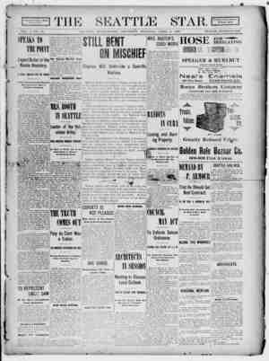 Seattle Star Gazetesi 6 Nisan 1899 kapağı