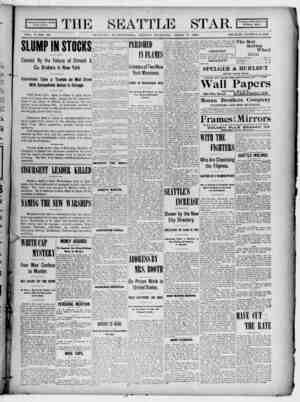 Seattle Star Gazetesi 7 Nisan 1899 kapağı