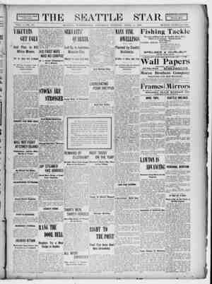Seattle Star Gazetesi 8 Nisan 1899 kapağı