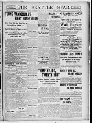 Seattle Star Gazetesi 11 Nisan 1899 kapağı