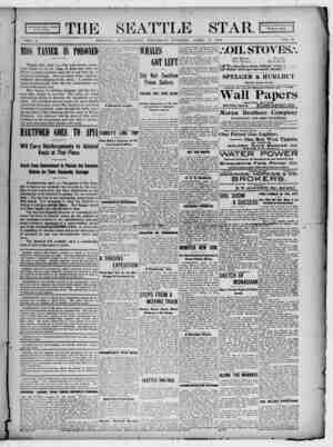 Seattle Star Gazetesi 13 Nisan 1899 kapağı