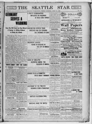 Seattle Star Gazetesi 14 Nisan 1899 kapağı