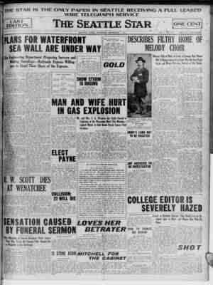 THE STAR IS THE ONLY PAPER IN SEATTLE RECEIVING A fHJLL LEASED WIRE TELEGRAPH SERVICE [Tast EDITION PLANS FOR WATERFRONT SEA